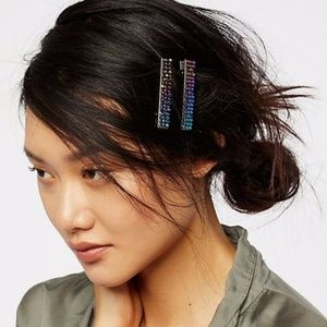 Free People Chainmail Salon Iridescent barrettes